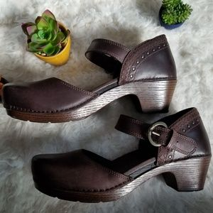 Dankso - Size 41 - Studded Mary Jane Buckle Clogs
